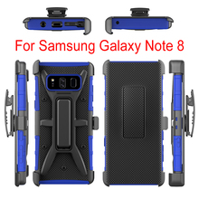 Alibaba wholesale phone accessories pc tpu 3 in 1 kickstand case for galaxy note 8