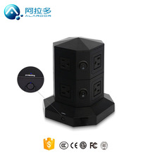 surge protection 6 ways outlets USA standard socket power socket