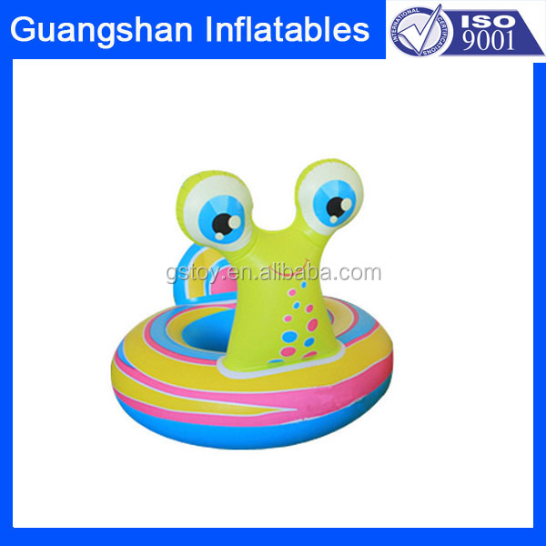 cartoon snail shape inflatable cup holder for kids