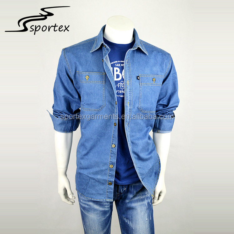 Promotional latest design cheap wholesale collar spring mens casual long sleeve shirt with pocket