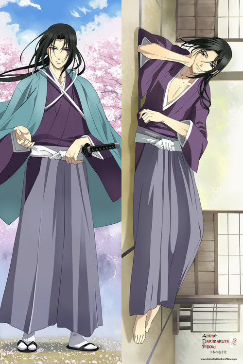 New Hakouki Movie Male Kazama Chikage Dakimakura Anime Hugging Body Pillow Case Free Ship
