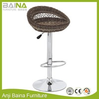 Outdoor furniture rattan bar table and bar stools