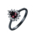 14K Real Gold Plated Wedding Engagement Ruby Ring Zircon Tat Women Rings