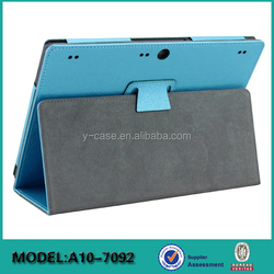 Manufacturer wholesale stand leather case for Lenovo Tab 2 A10-70