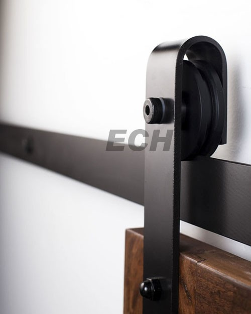 china supplier 7 ft track barn door hardware nylon wheel With 7 ft barn door track