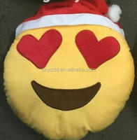 free sample emoji pillow for christmas /stock emoji cushion/handmade christmas pillow