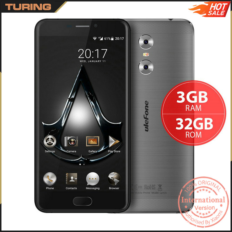 China Market 3GB RAM 32GB ROM 13MP Ulefone Gemini Telefone Mobile Smart Phone