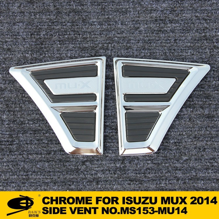 Chrome SIDE VENT(NOT FITT) forISUZU MUX 2014 chromed car accessories