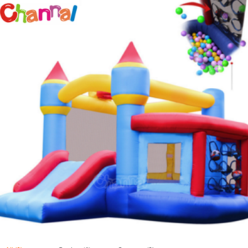 Inflatable bouncer house with slide residential inflatable bouncy jumping castle for kids