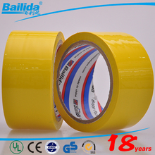 china direct import yellow color opp adhesive printed tapes for carton sealing