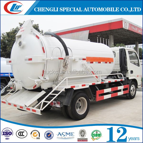 Dongfeng 4x2 high pressure vacuum suction truck with Italian vacuum pump