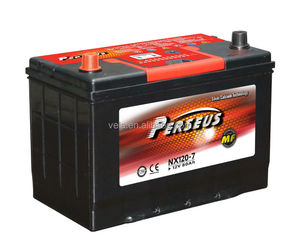 Korean car battery NX120-7L /95d31l mf lead acid battery mf battery type