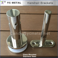 Glass Mounted 316/304 Stainless Steel Stair Balustrade Fitting
