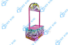 corrugated cardboard floor dump bins display for candy chocolate promotion