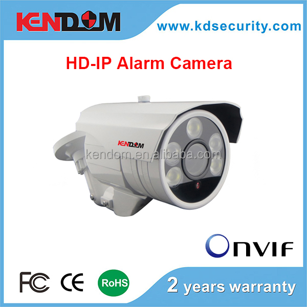 Kendom Top3 Hot Model POE ip alarm system Camera HD 1.3MP H.264 outdoor IP66 waterproof ir camera ip