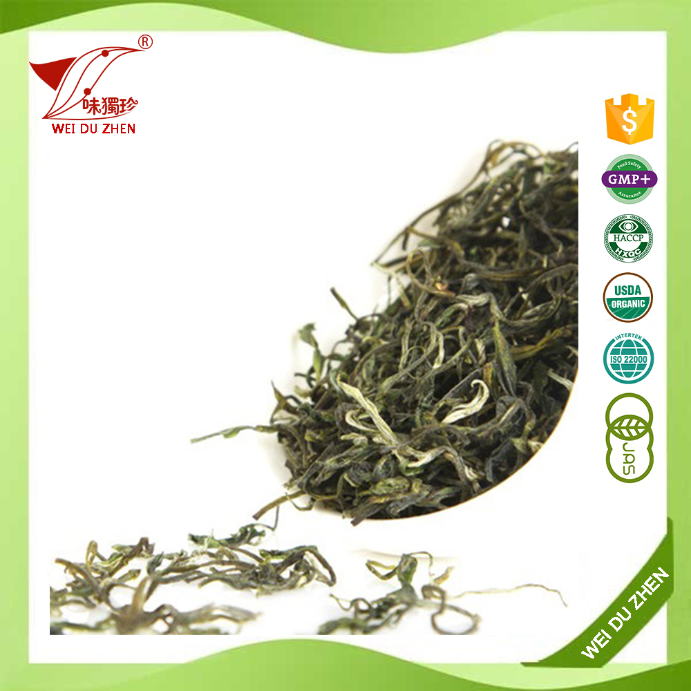 Small Lot Order Available China Cirrous Strong Flavor Artificial Tea Leaves Healthy Herbal Green Tea