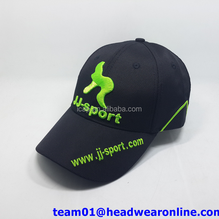 SEDEX ISO Factory microfiber fabric baseball cap with 3D embroidery