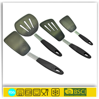 Silicone Flexible Turners with the strength of stainless steel handle silicone spatula silicone utensils