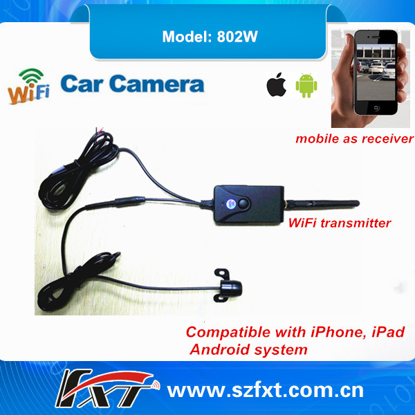 Wireless transmitter waterproof 30fps WiFi backup camera, mobile remote control, compatible with iPhone, iPad, Android system