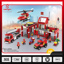 COGO Fireman plastic toy blocks