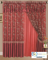 Wholesale Turkey tulle curtains voile home ready embroidery sheer fabric