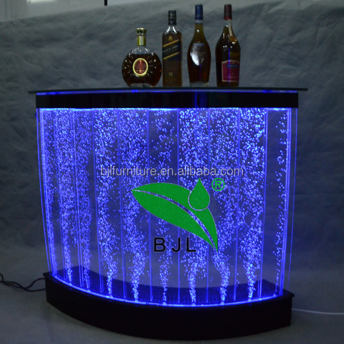 led water bubble dining table set modern with remote controller