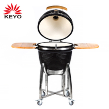 outdoor indoor 21 inch ceramic egg shaped kamado charcoal grill barbecue clay bbq kamado smoker grill