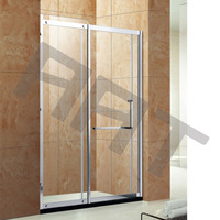 one fixable and one movable glass SS sliding glass shower screen TA-304