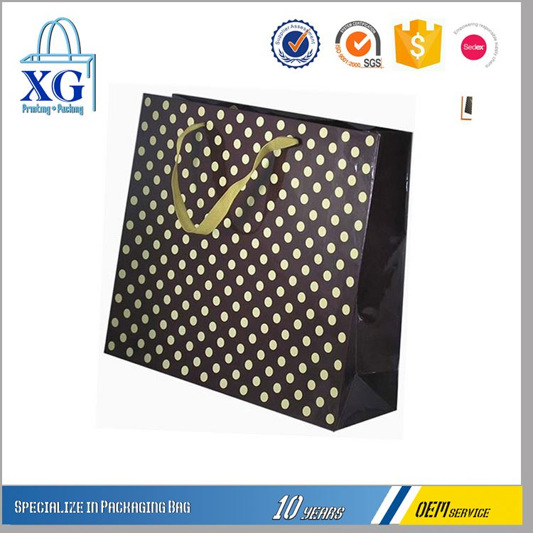 Factory Sale many patterns large capacity customized luxury paper bag gift bag for shopping