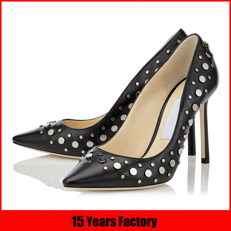 Italian latest new design new models wholesale china leather fashion lady shoes