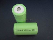 Rechargeable 2014 Hot sales Ni-MH D 10000mAh 1.2V Battery Manufacturer with CE,ROHS,UL certificates
