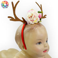 Wholesale Christmas Party Decoration Boutique Infant Baby Alter Hairpin Big Messy Flower Custom Headband