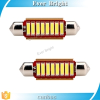 41mm 7014 SMD 10 LED Canbus Error Free Festoon Lights Reading Bulbs, C5W Car Door Light Dome Lights White