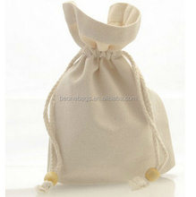Wholesale Organic Cotton Drawstring Bag with Rope Drawstring
