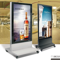Double Sided Aliuminium Picture Frame Outdoor Advertisment Display LED Scrolling Free Standing Standing Light Box