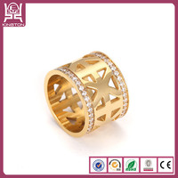 latest new design gemstone gold finger ring
