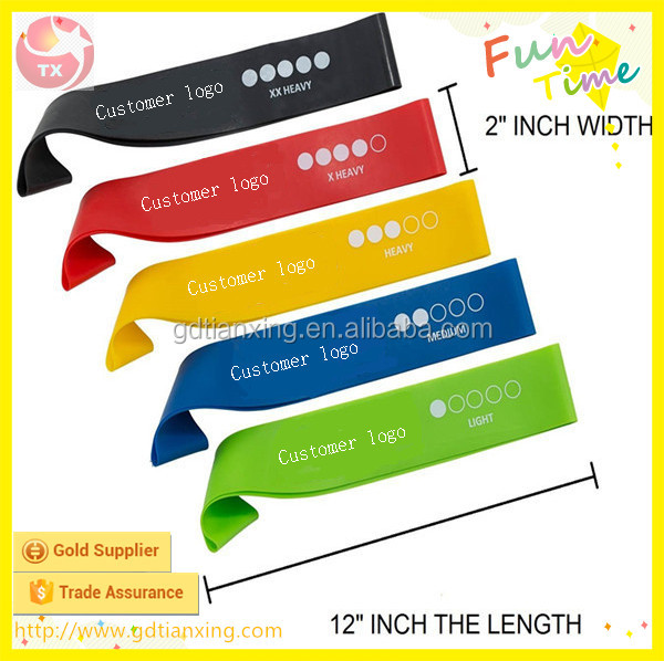 Alibaba Gold Supplier Fitness Training Resin Elastic Band Pliable Rubber Mini Band
