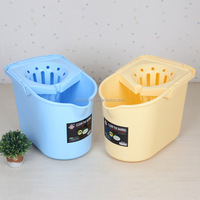 Durable Household pulley plastic mop bucket cleaning bucket widened draining sieve
