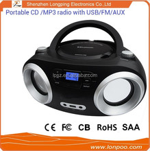 retro portable outdoor radio cd player with speakers