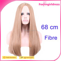 Halloween Costumes Cosplay Light Color Full Lace Human Long Hair Wig