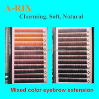 alibaba hot sale mixed color private lable eyebrow extension