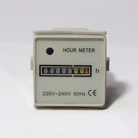 48x48 ac dc hour meter counter 24v