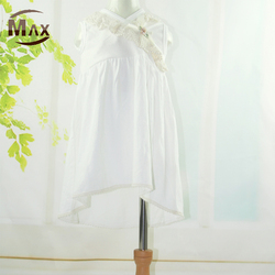 New Arrival Kids Clothing Bamboo Boutique Sleeveless Baby Girl Dress for Summer