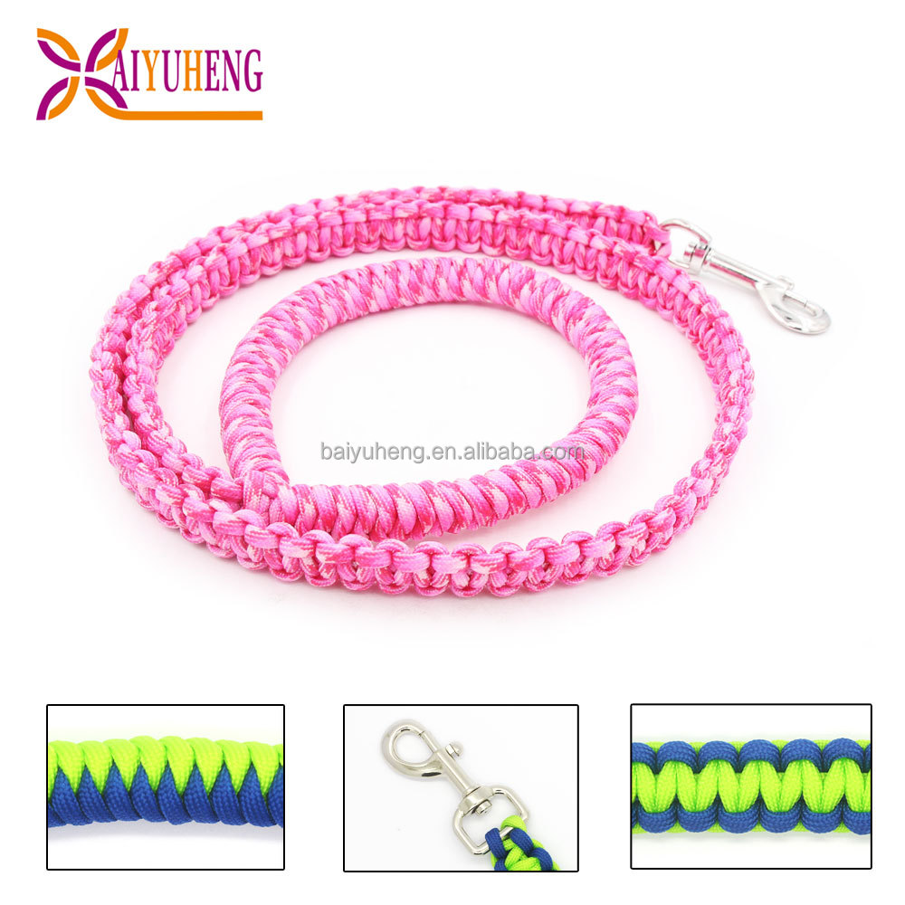 wholesale bicycle dog leash rope braided
