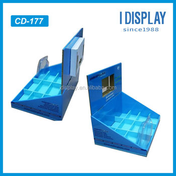 pop video lcd cardboard table top display for mobile phone power bank chargers