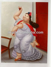 oil painting fat woman