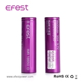 No MOQ efestpower sold purple battery IMR18650 2500mah 3.7v 35A alibaba hot selling 18650 battery