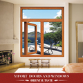 3'x4' anodized aluminum double leaf bathroom casement window india