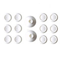 White Project Design 14 in 1 Removable Thumb Stick Joystick with Jelly Caps for PS4 / for Xbox One Controller