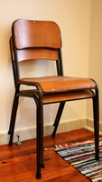 Inddustrial rustic school French cafe chair